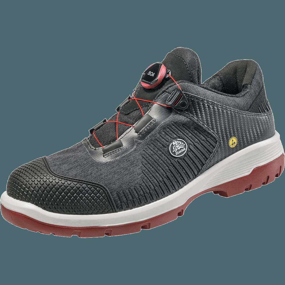 ... ein S1P Sicherheitsschuh mit BOA® Verschlussystem der neusten  Generation. Dieser Schuh wird in Holland hergestellt und verfügt über eine  PU-PU Sohle. a3de6876a2